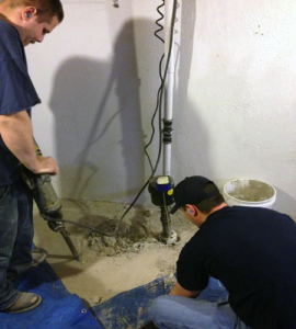 Excavation for Sump Pump